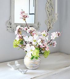春 フラワーアレンジ 和 ピンク ハナミズキ 桜 スノーボールPRIMA 横浜店 ¥10,000+税