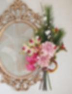 正月フラワーアレンジ ダリア コチョウラン ピンク PRIMA