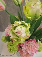 春 フラワーアレンジ ピンク グリーン PRIMA 横浜店