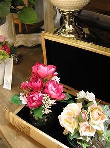 PRIMA池袋店 パープル ピンク ライラック ローズ フラワーアレンジ