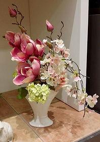 春 フラワーアレンジ 和 ピンク  桜 スノーボールPRIMA 船橋店