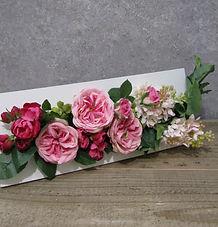 春 フラワーアレンジ ローズ パープル ピンク PRIMA ¥13,000+税