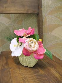 正月フラワーアレンジ ピンク PRIMA 池袋店 ¥5,000+税