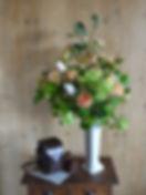 春 フラワーアレンジ リース 造花