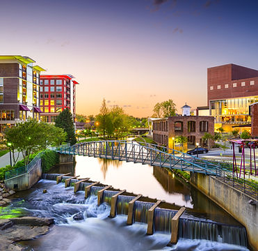 Greenville, South Carolina town cityscap