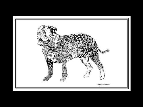Dogue de Bordeaux Print