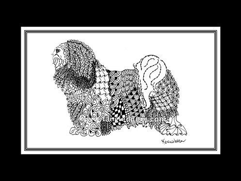Tibetan Terrier Print