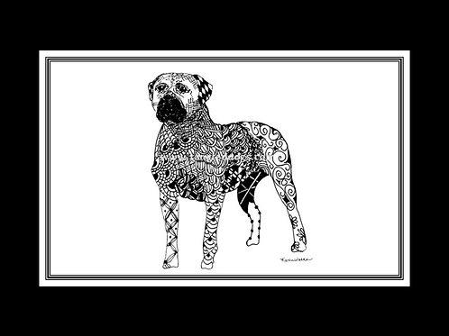 Bullmastiff Print