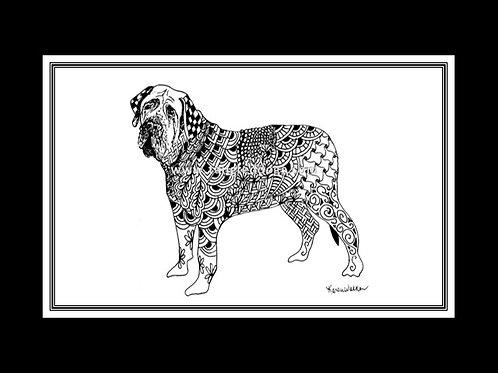 Mastiff Print