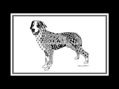 Greater Swiss Mountain Dog Print