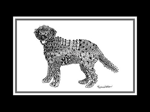 Portuguese Water Dog Print