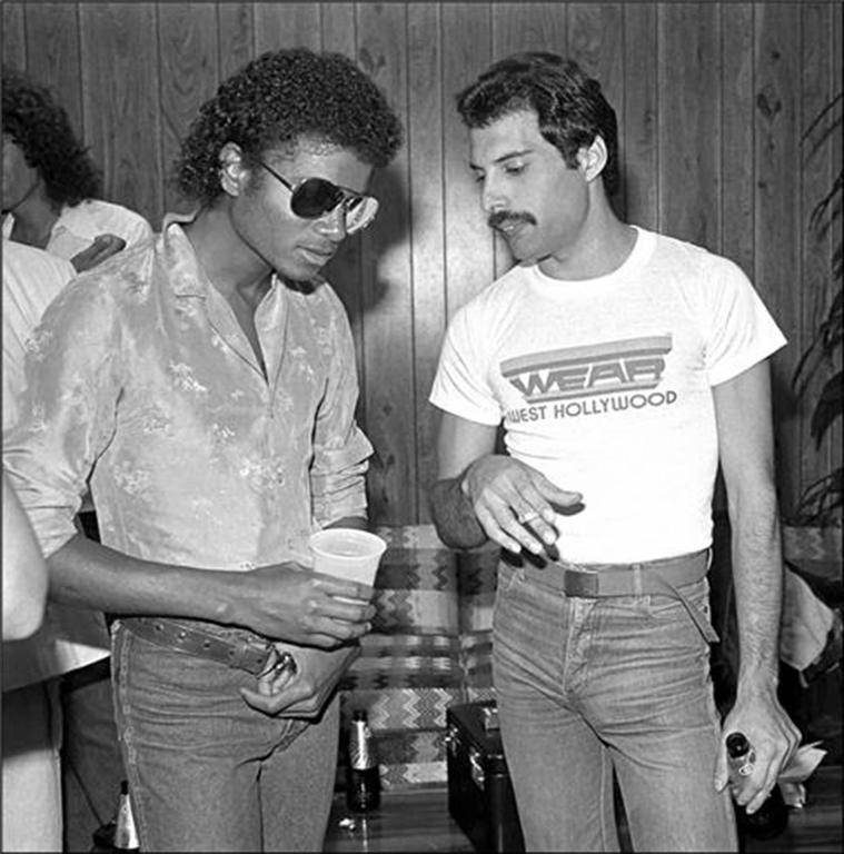 Picture of Michael Jackson & Freddie Mercury