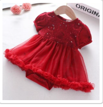 Christmas Girl Outfit 0-3mos