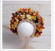 Fall Colors Floral Bonnet