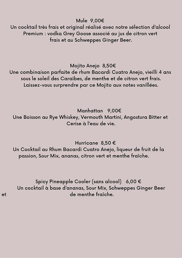 COCKTAILS 16cl Fiero Spritz 8,00 € Un dé