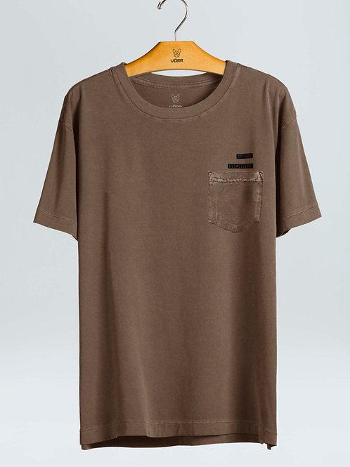 T-shirt B. Desacelere - Marrom