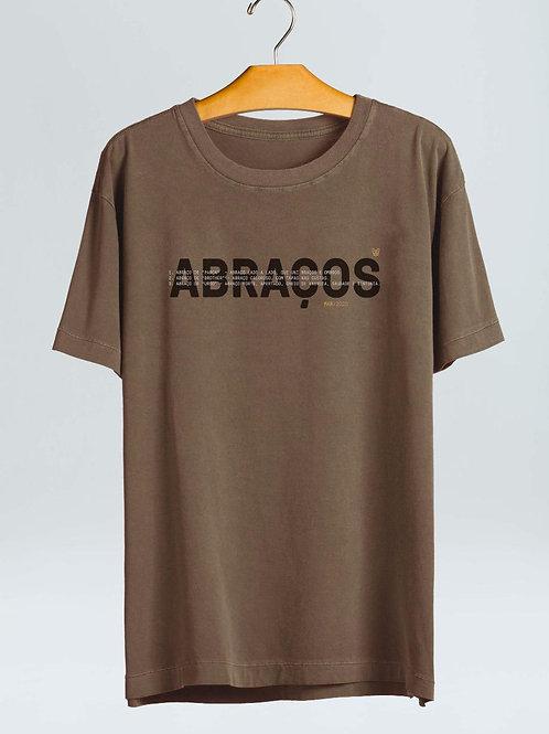 T-shirt Abraços - Marrom