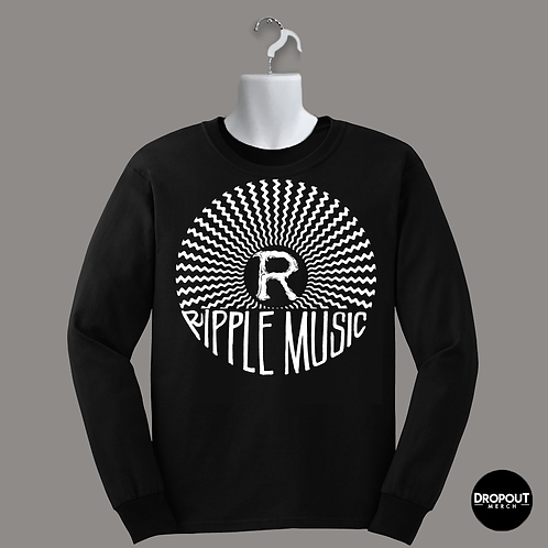 "Ripple Music ""Logo"" Longsleeve - White Print"