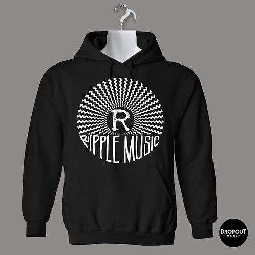 "Ripple Music ""Logo"" Hoodie - White Print"