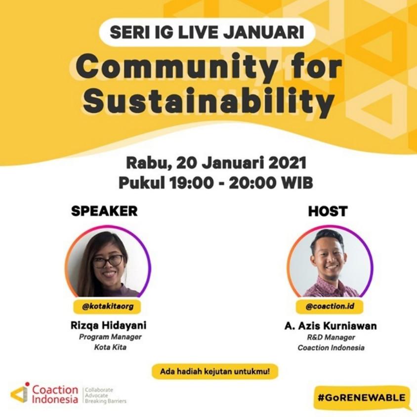 Community for Sustainability
