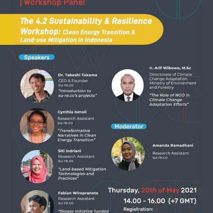 The 4.2 Sustainability and Resilience Workshop: Clean Energy Transition and Land-use Mitigation in Indonesia