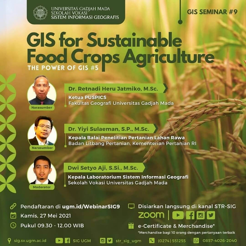 GIS for Sustainable Food Crops Agriculture