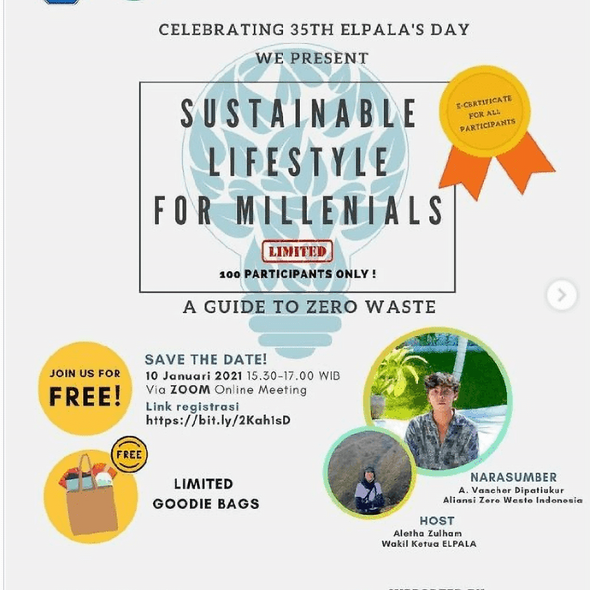 SUSTAINABLE LIFESTYLE FOR MILENIALS