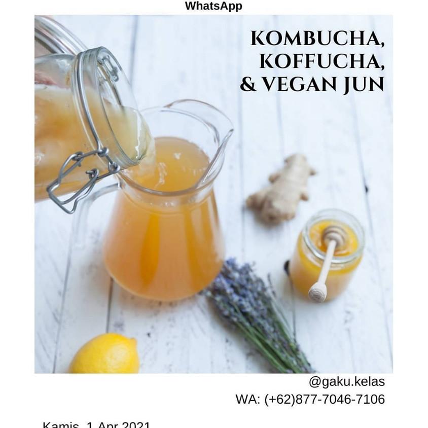 Kombucha, Koffucha & Vegan Jun