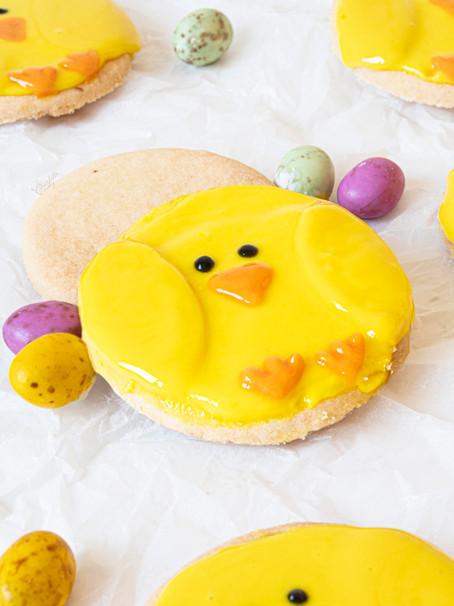 Lemon Shortbread Chicks