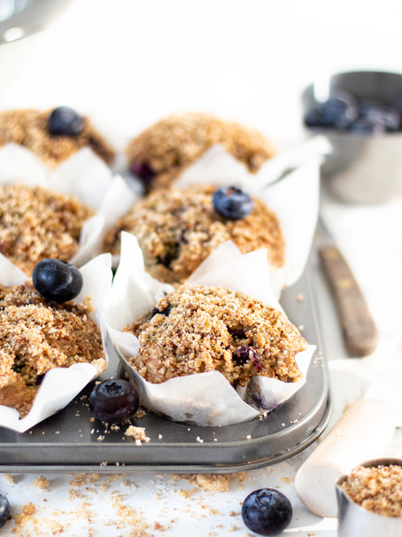 Blueberry Crumble Breakfast Muffins