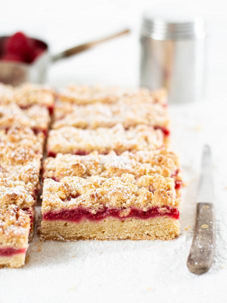 Bakewell Shortcake Bars