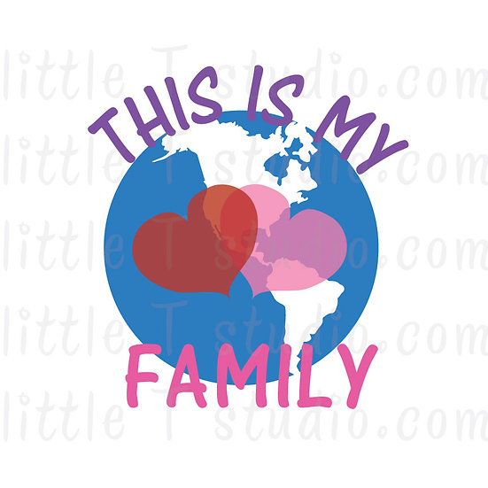 This is My Worldwide Family Globe JW Digital Clipart