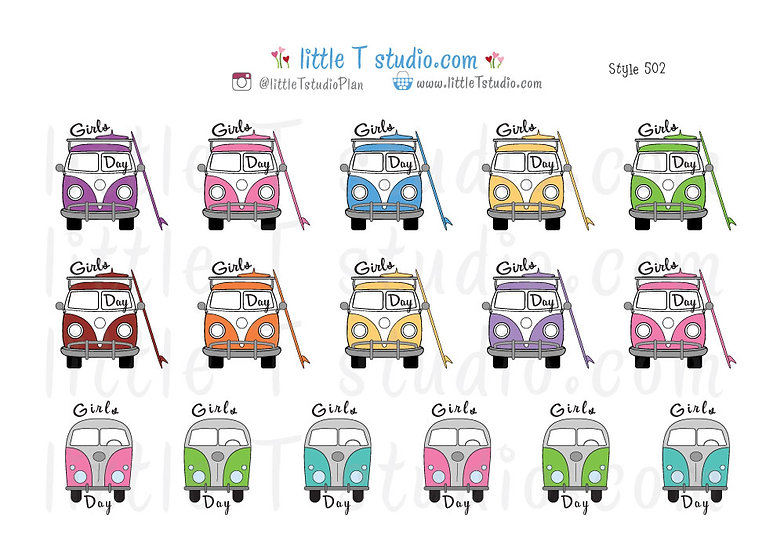 Girls Day Stickers - Style 502