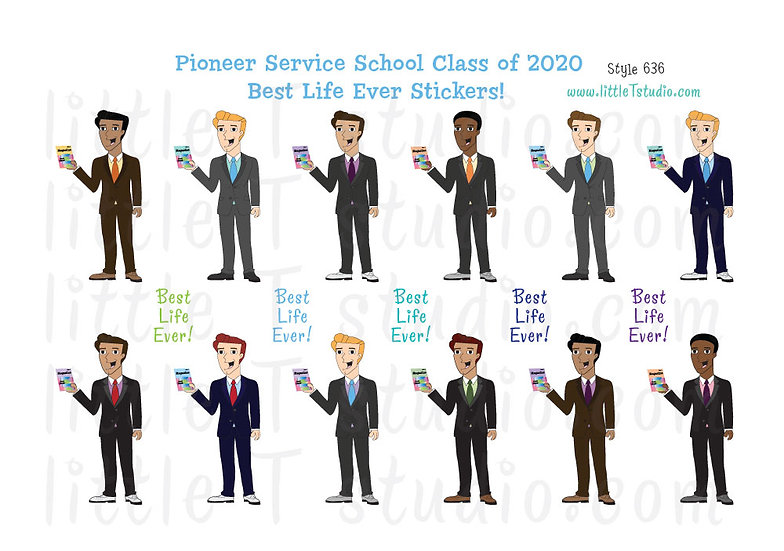 2020 Pioneer Service School Best Life Stickers - Style 636
