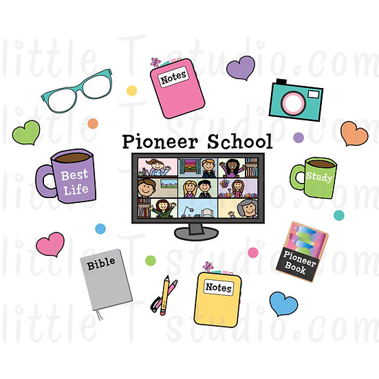 Pioneer School Collage JW Digital Clipart