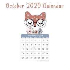 October 2020 Mini Calendar
