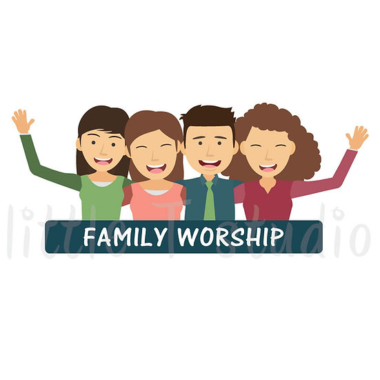 Family Worship Stickers - Style 1045