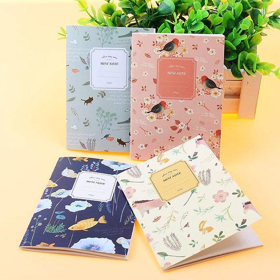Mini Floral & Fauna Notebooks - Set of 4