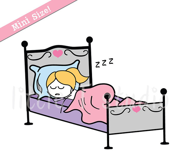 Busy Ballerina Mini Size - Rest / Relax Day Stickers - Style 211M