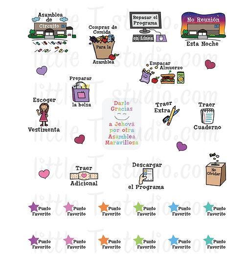 Asamblea de Circuito Mini Sticker Variety Pack - Style 051M