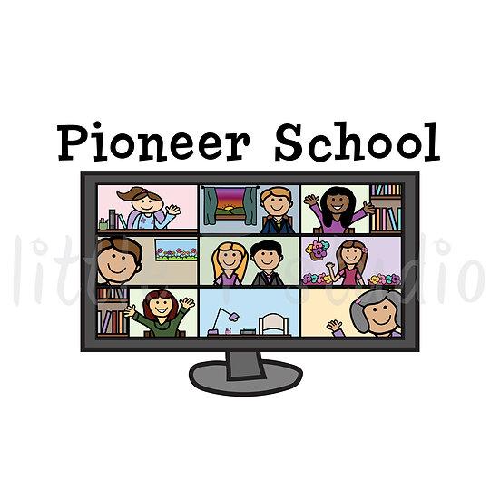 Pioneer School Variety Sticker Pack - 2 Sheet Set! Regular or Mini Size