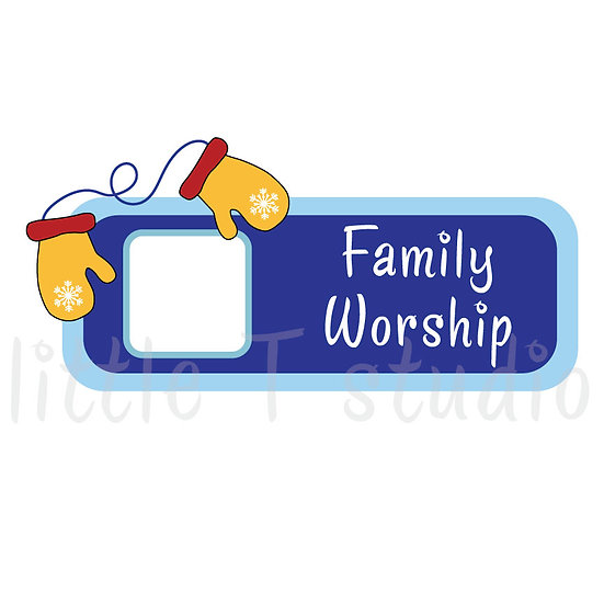 Family Worship Winter Themed Reminder Stickers - Style 094