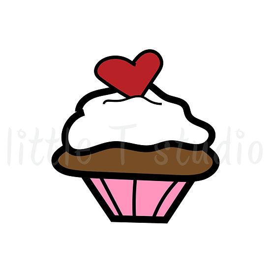 Sweetheart Cupcake Mini Size Icon Stickers - Style 138M