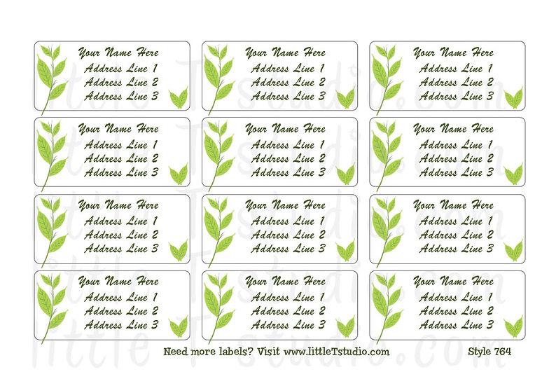 Return Address Labels - Plant Life - Style 764