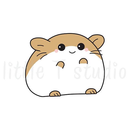 Kawaii Stickers - Little Brown Hamster - Style 034-K