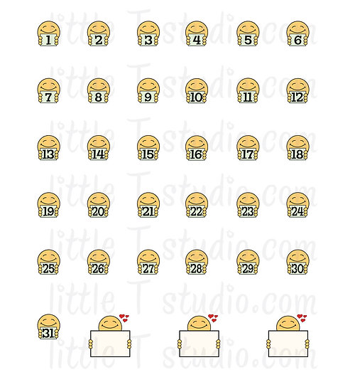 Joys of Life Monthly Date Mini Stickers - Style 101M