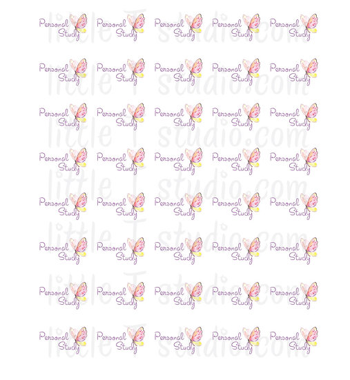 Personal Study Stickers Spring Butterfly Mini Size Stickers - Style 157M