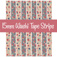 Fall Floral Washi Tape
