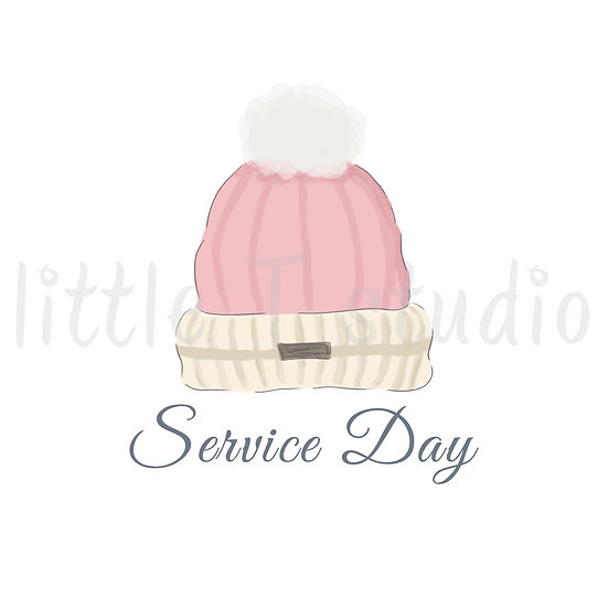 Service Day Stickers - Warm Winter Hat - Style 1134 or 326M