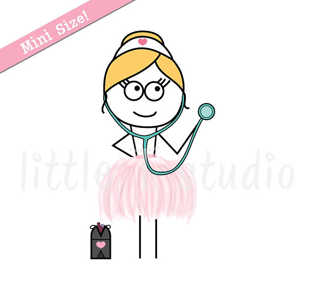 Busy Ballerina Mini Size - Doctor Appointment Reminder Stickers - Style 221M